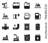 solid black vector icon set  ... | Shutterstock .eps vector #786382210