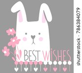 cute vector card with cartoon... | Shutterstock . vector #786384079
