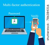 two steps authorization concept.... | Shutterstock .eps vector #786384316