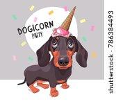 Dachshund Dog In A Ice Cream...
