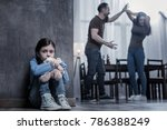 unhappy childhood. nice unhappy ... | Shutterstock . vector #786388249