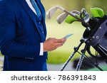 doing business on the golf... | Shutterstock . vector #786391843