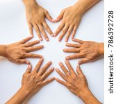 women's hands from different... | Shutterstock . vector #786392728