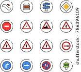 line vector icon set  ... | Shutterstock .eps vector #786396109
