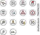 line vector icon set   traffic... | Shutterstock .eps vector #786396220
