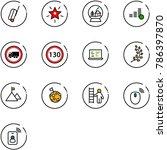 line vector icon set   suitcase ... | Shutterstock .eps vector #786397870