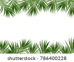 frame picture with green leaf... | Shutterstock . vector #786400228