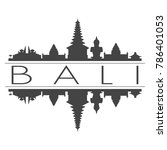 bali indonesia skyline vector... | Shutterstock .eps vector #786401053