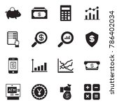 solid black vector icon set  ... | Shutterstock .eps vector #786402034