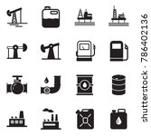 solid black vector icon set  ... | Shutterstock .eps vector #786402136