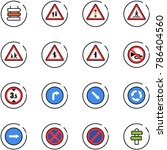 line vector icon set   sign... | Shutterstock .eps vector #786404560