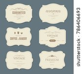 Stock vector set of vintage labels old fashion banner illustration vector 786406693