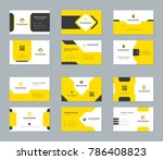 business cards design templates ... | Shutterstock .eps vector #786408823