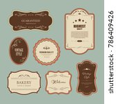 Stock vector set of premium label for design vintage style banner vector 786409426