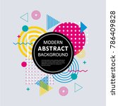 abstract circle geometric...   Shutterstock .eps vector #786409828