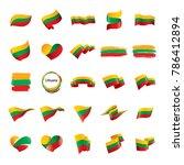 lithuania flag  vector... | Shutterstock .eps vector #786412894