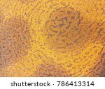 rust on steel plate with old.... | Shutterstock . vector #786413314