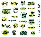 set of food badges. allergens ...   Shutterstock .eps vector #786421240
