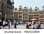 brussels  belgium   august 27 ... | Shutterstock . vector #786422800