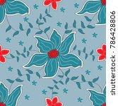 fabric flower design | Shutterstock .eps vector #786428806