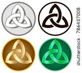 celtic knots  set of icons.... | Shutterstock .eps vector #786437008
