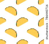 tacos seamless pattern. mexican ... | Shutterstock .eps vector #786440716