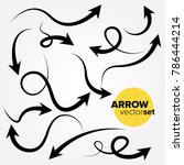 hand drawn arrow vector set | Shutterstock .eps vector #786444214