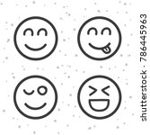 Happy Smiley Icons. Laughing...
