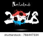 abstract number 2018 and soccer ... | Shutterstock .eps vector #786447334