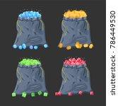 cloth fabric money bag full of...