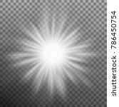 glowing light effects lens... | Shutterstock .eps vector #786450754