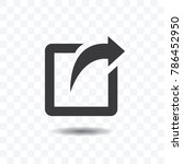 share icon with square and... | Shutterstock .eps vector #786452950