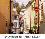 cesky krumlov  bohemia   czech...   Shutterstock . vector #786453184
