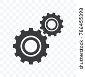 gears icon vector illustration... | Shutterstock .eps vector #786455398
