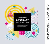 modern abstract circle... | Shutterstock .eps vector #786456019