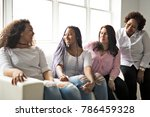 two family friends sitting on... | Shutterstock . vector #786459328
