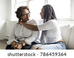 a affectionate mother and... | Shutterstock . vector #786459364