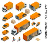 isometric logistics icons set... | Shutterstock .eps vector #786462199