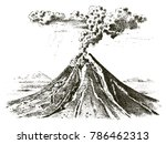 volcano activity with magma ... | Shutterstock .eps vector #786462313