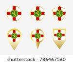 vector flag set of alderney. | Shutterstock .eps vector #786467560