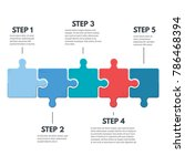 puzzle infographic bussines... | Shutterstock .eps vector #786468394