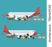 cargo plane transportation and... | Shutterstock .eps vector #786469030