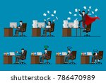 set of  businessman character... | Shutterstock .eps vector #786470989