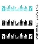 a vector graphic of 2 speakers... | Shutterstock .eps vector #786471718