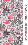 monochrome pink magnolia... | Shutterstock .eps vector #786471979