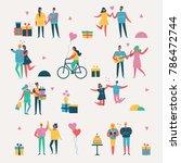 vector valentine illustration... | Shutterstock .eps vector #786472744