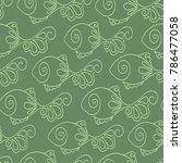 vector hand drawn seamless... | Shutterstock .eps vector #786477058