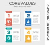 core values infographic icons | Shutterstock .eps vector #786480340
