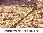 paris  france   aerial city...   Shutterstock . vector #786482170