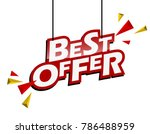red and yellow tag best offer | Shutterstock .eps vector #786488959